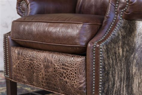 Cowhide Recliner by Croc Cowhide Recliner Brumbaugh S Home Furnishings