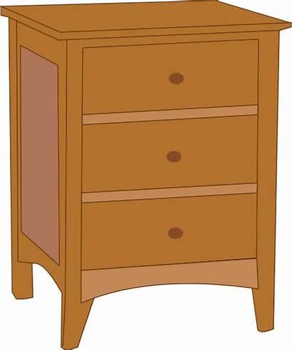 Clipart Table Clip Drawer Cupboard Dresser Bedroom