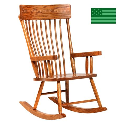 amish ensley rocking chair solid wood made in america