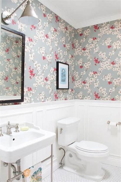 Powder Floral Hgtv Pequenos Banheiros Tuacasa Decorar