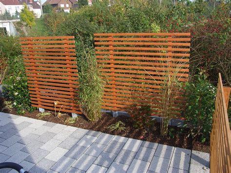 Sichtschutz Garten Zaun Holz Bvraocom