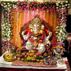 Ganesh Chaturthi Decoration for Home, Makhar, Flower ...