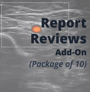 Report Reviews Add-on – American Academy of MSK Ultrasound