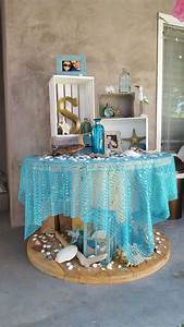 Beach bridal shower theme ideas decorations ariels for Wedding shower decor