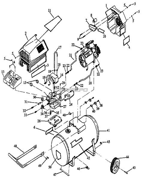 wiring diagram for craftsman air compressor 43 wiring