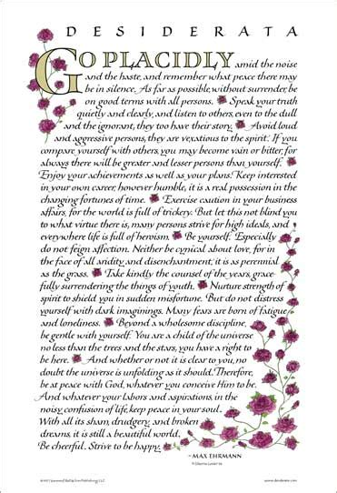 wedding quotes rumi desiderata desiderata poster 18x27