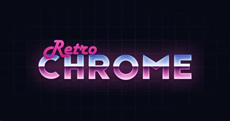how to create a retro chrome text effect in adobe illustrator