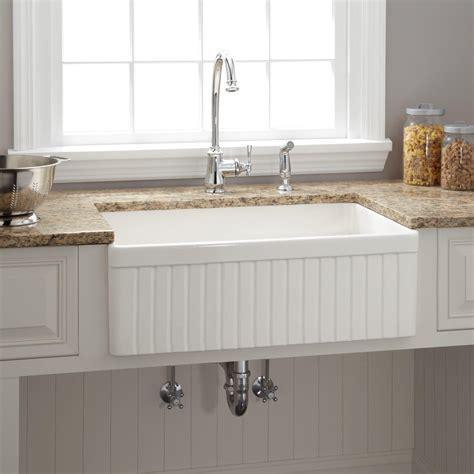 30 quot baldwin single bowl fireclay farmhouse kitchen sink
