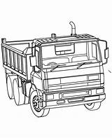 Plow Coloring Truck Pages Dump Snow Printable Getcolorings sketch template