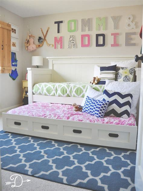 Shared Rooms by Boy And Shared Bedroom Diy Daybed With Trundle