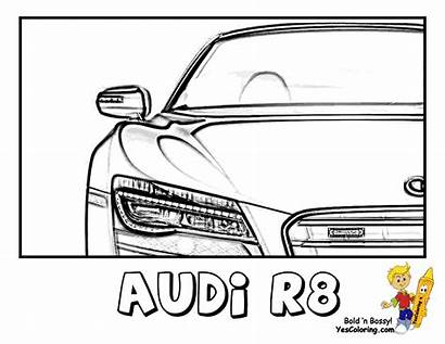 Coloring Audi Pages Cool R8 Yescoloring Dodge