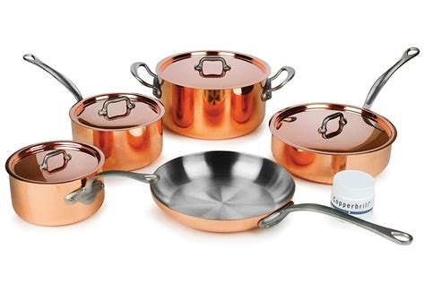 mauviel mheritage mc piece copper cookware set kitchen amp dining amazon affiliate link