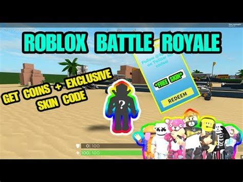 exclusive skin coderoblox battle royale simulator