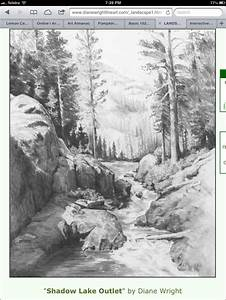 QuotShadow Lake Outletquot By Diane Wright Drawing Pinterest