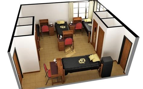 floor ls for dorm rooms an exle of a 4 person room click the image for more information cuboulder boulderbound