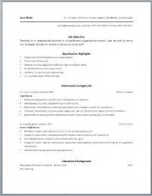 aged care resume template aged care resume sle best resume exle