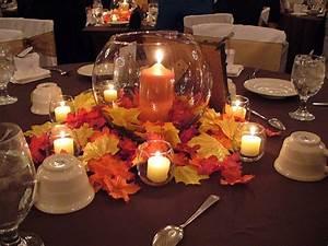 Dcoration De Table Pour Mariage Thme Automne Centre De