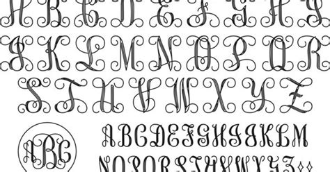 interlocking monogram script    pinterest monograms fonts  cricut