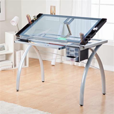 bureau plateau verre le plateau de bureau en verre pour votre office à la maison