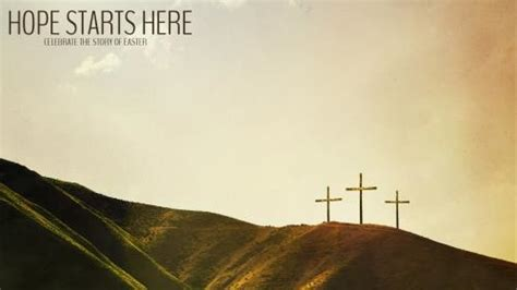 church powerpoint template hope starts  calvary