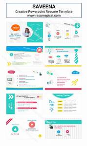 Saveena Powerpoint CV Template ResumePixel