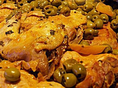 cuisine marocaine poulet aux olives recette du poulet aux olives et citron confit a la