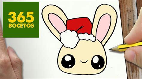Como Dibujar Un Conejo Para Navidad Paso A Paso Dibujos