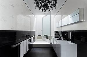 deco salle de bain carrelage noir et blanc With photo salle de bain noir et blanc