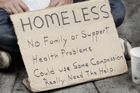 Homeless People Signs
