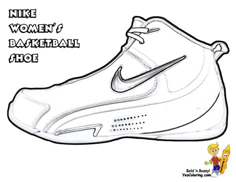 Basketball Shoes Coloring Pages Getcoloringpagescom