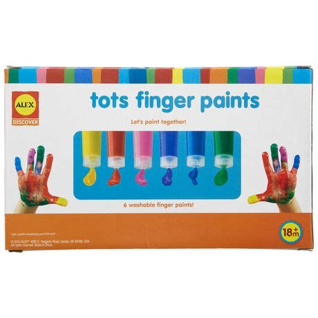 peinture lavable pour cuisine peinture lavable pour le doigt tots d 39 alex toys walmart