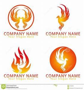 Fire Phoenix Concept Logo Stock Vector - Image: 57633942