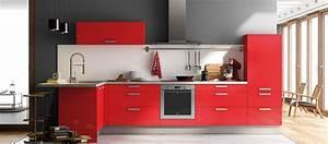 Cuisine couleur bordeaux brillant dootdadoocom idees for Lovely idee couleur peinture toilette 8 cuisine noir laque avec ilot