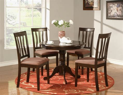 round kitchen table sets for 4 5 pc round table dinette kitchen table and 4 chairs ebay