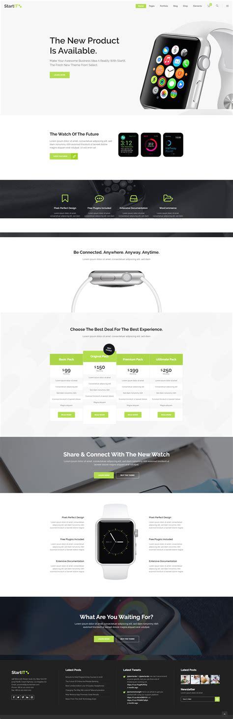 Startit — Fresh Startup Business Theme   Stylelib   Start ...