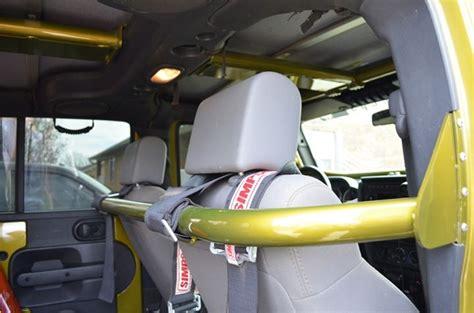 rock hard  front seat harness bar  jeep wrangler jk