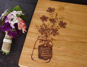 personalized bridal shower hostess gift custom cutting board With hostess gifts for wedding shower