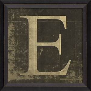 alphabet letter e framed wall art by spicher and company With framed letters for wall