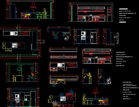 bloc cuisine autocad planos de casas planos de construccion