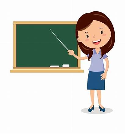Teacher Transparent Background Cartoon Teachers Blackboard Clip