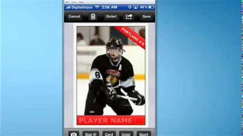 How To Make A Hockey Card With Sports Card Youtube