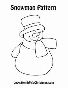 PATTERNS FOR SNOWMAN - FREE PATTERNS