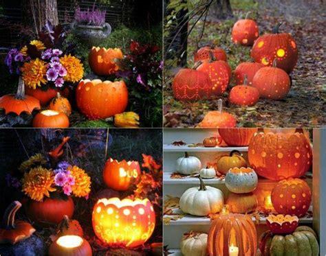 Kuerbis Dekorationsideen by Herbstdeko Kurbisslaternen Geschnitzte Kuerbisse Garten
