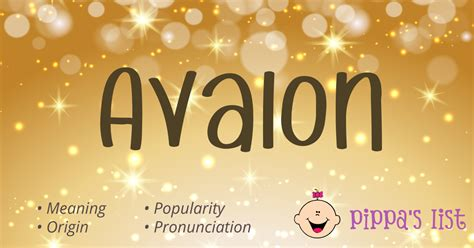 avalon names meaning