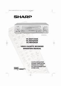 Sharp Vc  Operation Manual