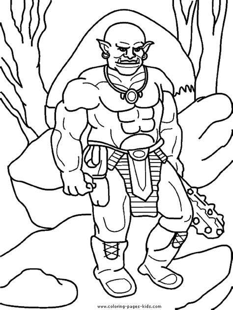 troll coloring pages getcoloringpagescom