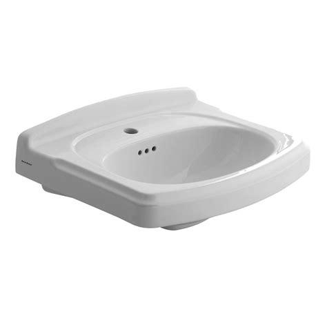 hole in sink basin american standard portsmouth 19 5 in pedestal sink basin