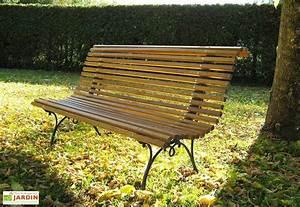 Banc Jardin Bois : banc de jardin en fonte et en bois 150 cm campos dommartin ~ Teatrodelosmanantiales.com Idées de Décoration