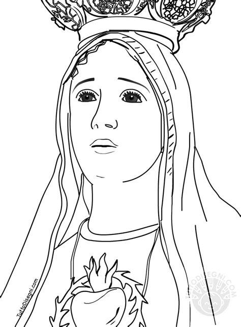 disegni madonna con bambino da colorare disegno madonna di fatima da colorare tuttodisegni