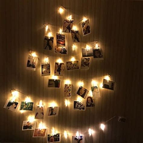 led photo clips string lights christmas lights starry